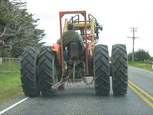 7. Get stuck in traffic behind a tractor.
