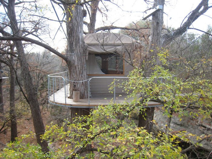 2. Cypress Valley Canopy Tours has some awesome renovated treehouse rooms - right outside of Austin!