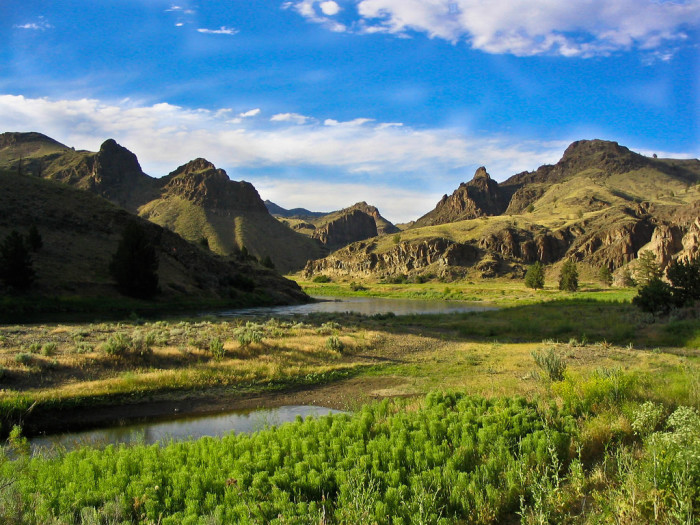14. The rugged, lovely terrain of Central Oregon.