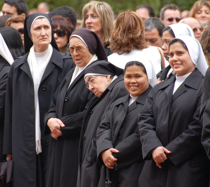 15. There's also a reasonable chance that your teachers were nuns.