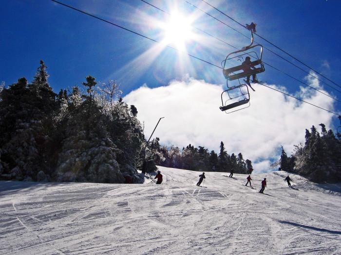6. Skiing