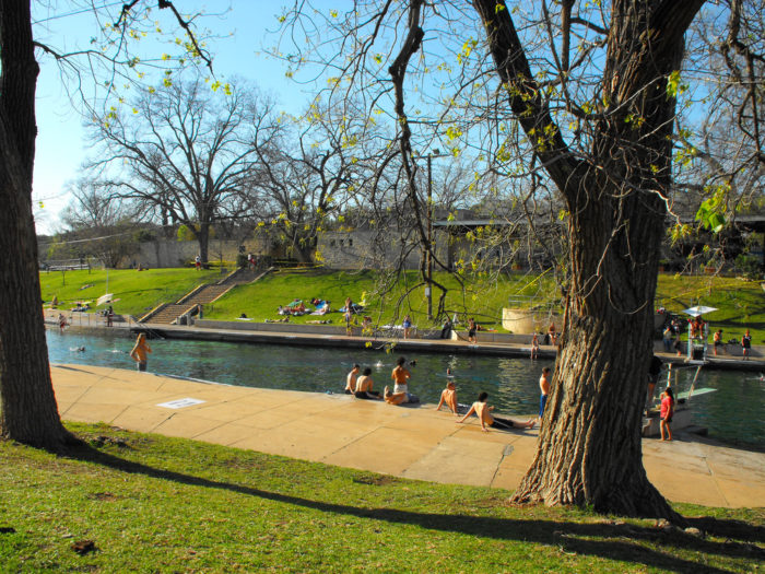 13. Go for a dip and relax after with a perfect picnic at Barton Springs Pool.