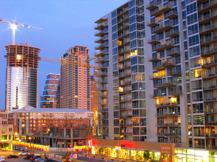 11. The coolest neighborhood includes all of the amazing high rises taking over downtown Austin.
