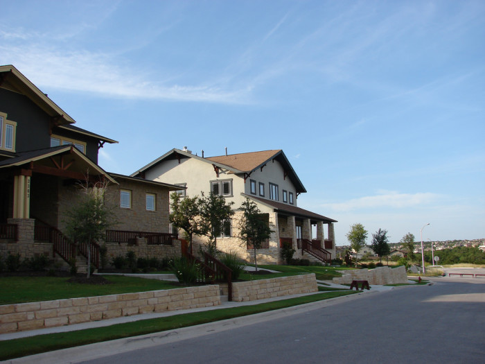 4. The Twin Creeks neighborhood is located about 20 minutes from Downtown Austin, boasting amazing hillcountry views and a golf course.
