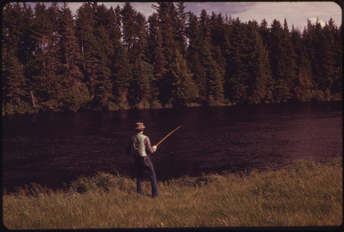 3. Fishing in the Androscoggin River, June 1973.