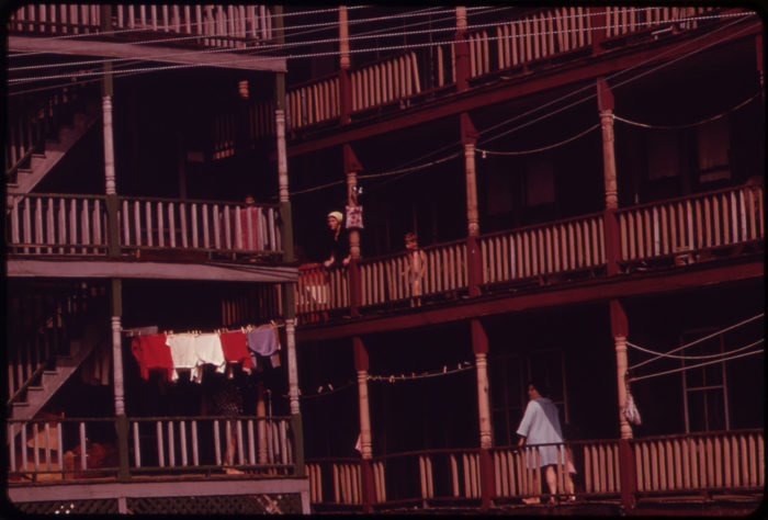 10. Houses in Mexico on the Androscoggin River, June 1973.