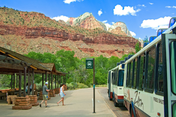15. The shuttle is the only way to tour the Zion Canyon Scenic Drive during high season.