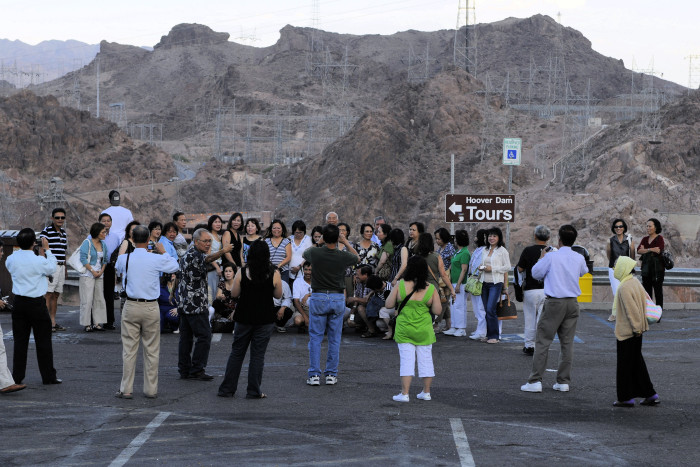 5. Many tourists are often spotted because they tend to be in large groups.