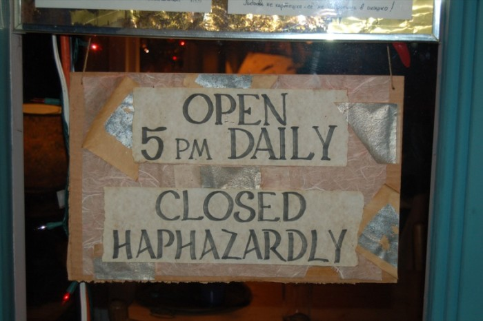 16.  If you need something from the store when it's closed…