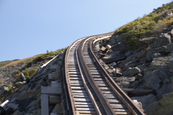 8. This section of railway on Mount Washington has some of the highest gradient of any railway in the world.