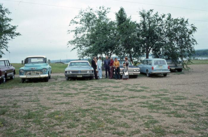 4. Neighbors gathering at a lake in the North Dakotan summertime - 1976
