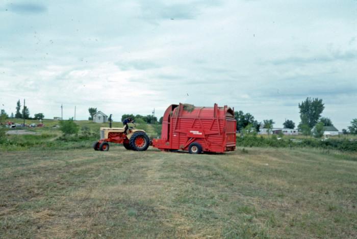 6. Hay baler in rural North Dakota - 1976
