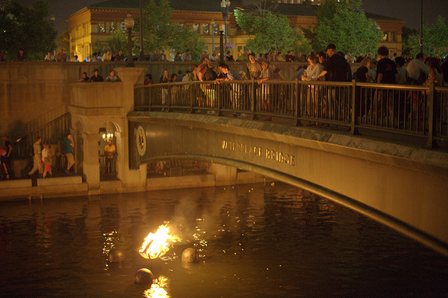 7. Providence WaterFire is a unique and magical experience promoting arts and entertainment.