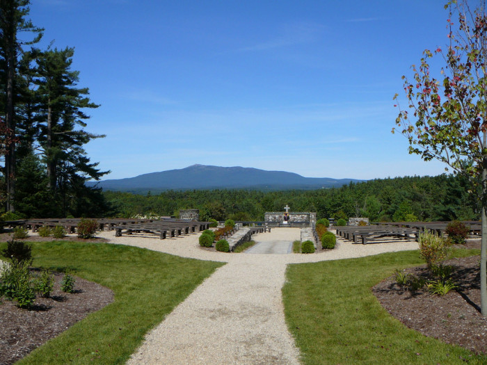 8. The Cathedral of the Pines in Rindge is the perfect place to reflect on America's beauty.