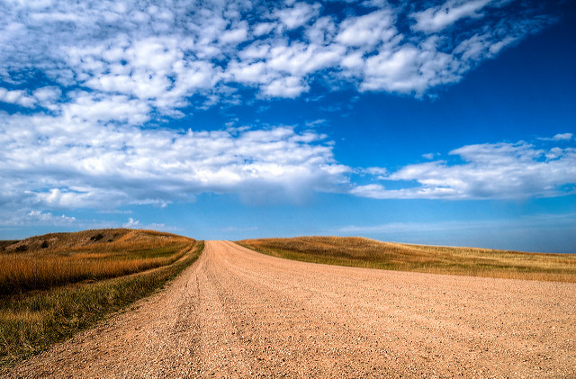 And you can always find a seemingly endless gravel road that will restore your faith in the beauty of the world.