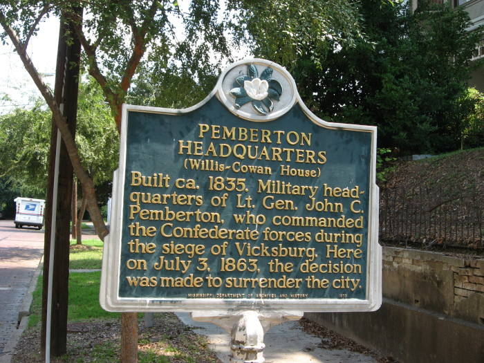 4. Both Union and Confederate veterans lobbied Congress from 1895-1899 so that Pemberton's Headquarters would be preserved by the Vicksburg National Military Park.