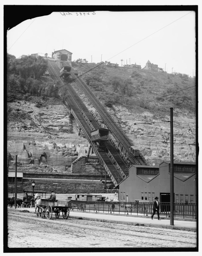 The Monogahela Incline in the early 1900s. The incline was built in 1886 and still operates daily.