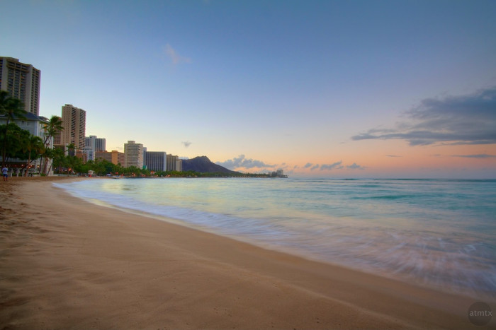 4. Waikiki Beach may be incredibly famous, but it is actually a series of five beaches. From Ewa to Diamond Head, these beaches include Duke Kahanamoku, Fort DeRussy, Gray's, Waikiki and Kuhio.