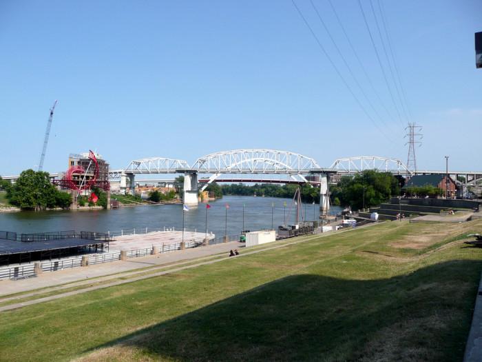 4. Walk along Riverfront Park.