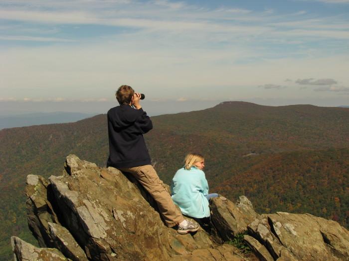 2. Hawksbill Mountain (2.9 miles)
