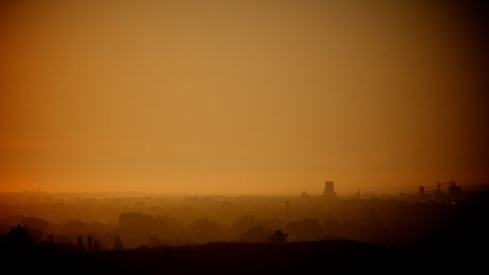 6. Can you guess where this was taken? It isn't Mars - this was taken on a foggy morning in Minot.