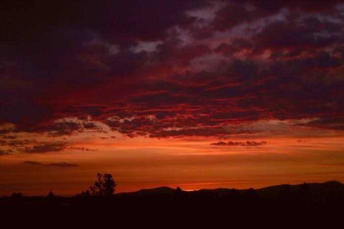 16. An autumn sunset