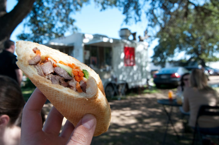 12. Recognize this food truck? This is Lulu B's yummylicious Banh Mi sandwich!