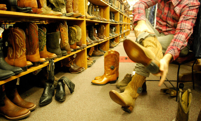 6. Boots galore at Allen's Boots on SoCo.
