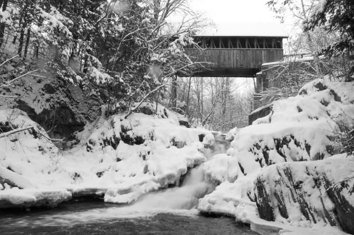 2. The Meriden covered bridge in Sullivan is breathtaking, even in the cold.