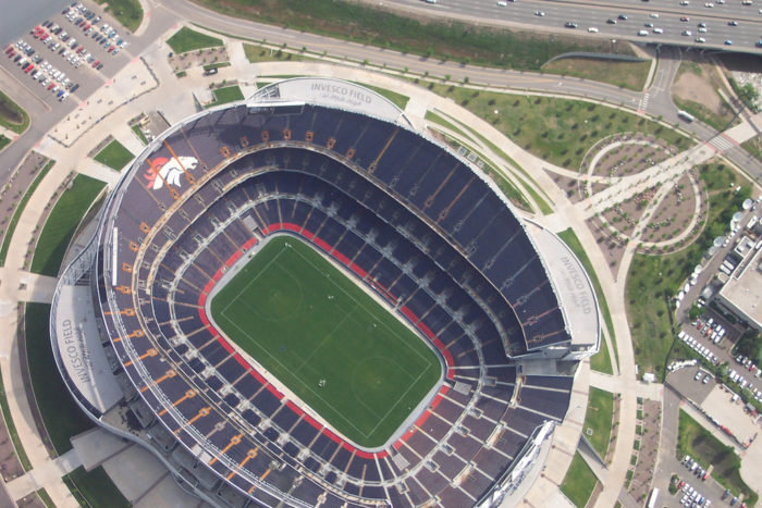 7. Mile High Stadium is the birthplace of Broncomania and has been the home of the Denver Broncos since their first season in 1960.  Giddy up!