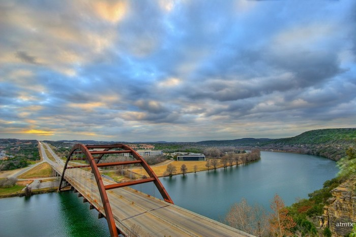 7. How about that? The 360 bridge over Lake Austin - Nice!