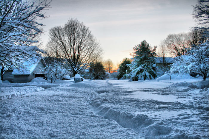 7. Awake to find your neighborhood looking like this.