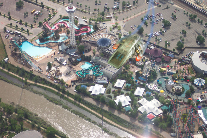 8. Spacecraft over Elitch Gardens Theme and Water Park?  Do you believe?