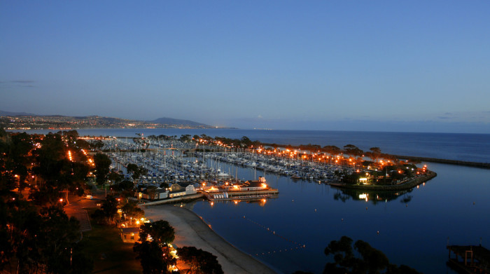 2. The enchanting Dana Point bathed in a warm glow of light.