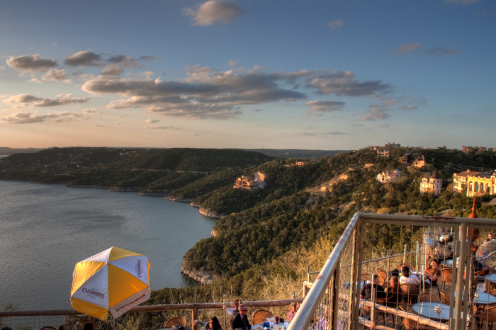 5. Views of the Texas hillcountry and of Lake Travis from the Oasis... dinner and a view!