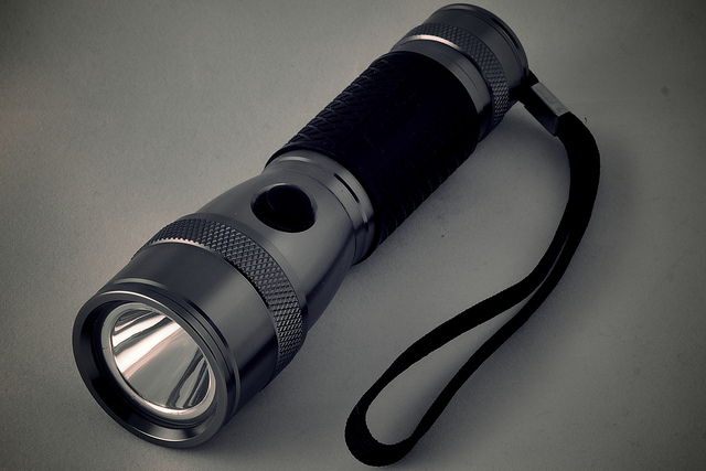 11. Flashlight and extra batteries.