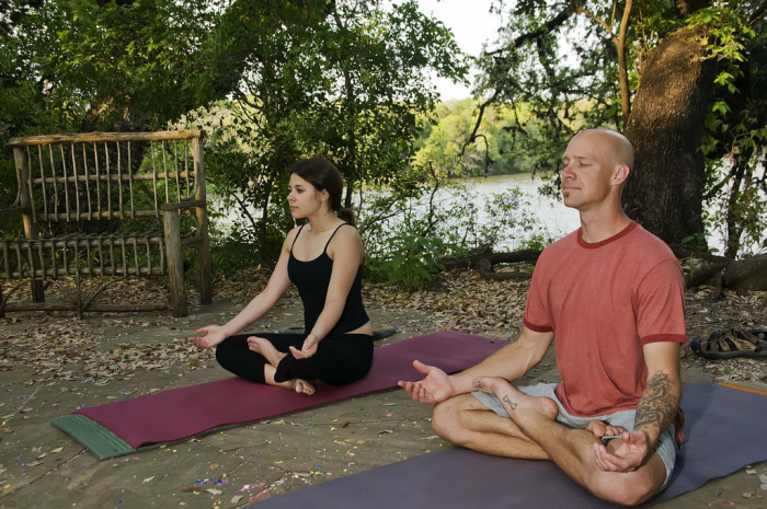 8. Release your inner yogis with some zenified yoga by the lake.