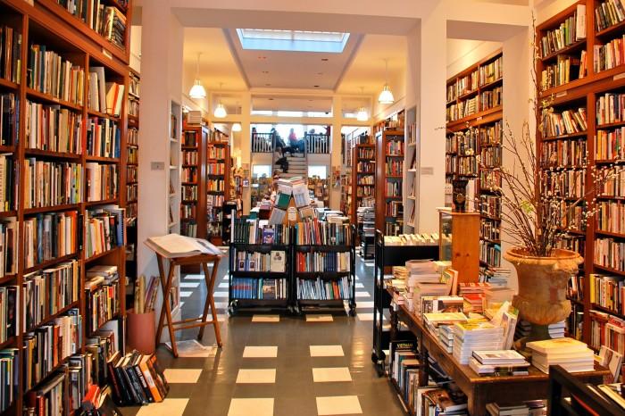 7. The cozy bookstores.
