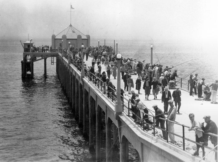 5. Hanging out on the Huntington Beach Pier doing some fishing.