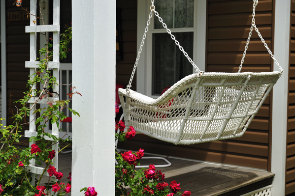 5. Take some time to relax on the front porch.