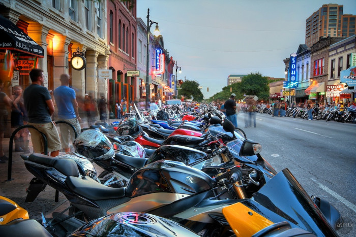 10. There's always an event happening in Austin. Texas Biker Rally, SXSW, ACL, Fun Fun Fun Fest, Blues on the Green, Eeyore's Birthday, Kite Festival, and so...much...more!