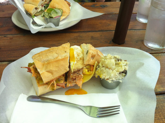 13. Oh me, oh my! Have you tried out the Gypsy Grove sammich from Food Heads? Ya need to!