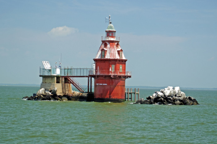 13. Ship John Shoal Light, Delaware