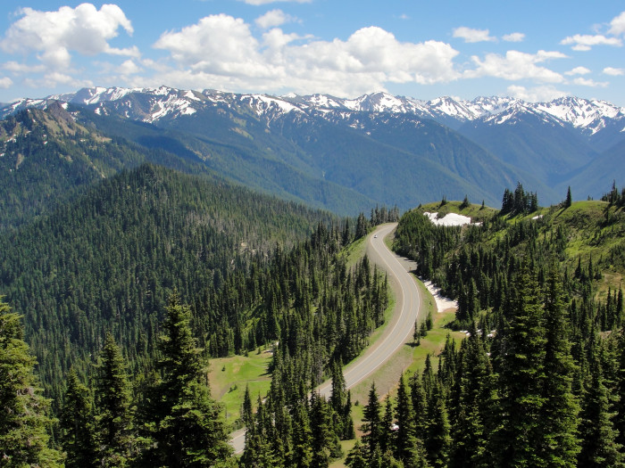 1. There are 100,000 more acres of wilderness in the Olympic National Park than the entire acreage of Rhode Island.