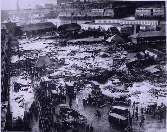 9. A massive wave of molasses once devastated Boston's North End. On January 15, 1919, a storage tank holding more than 2 million gallons of molasses burst and sent more than two million gallons of hot molasses roaring through the streets of Boston. The accident claimed 21 lives and injured hundreds.
