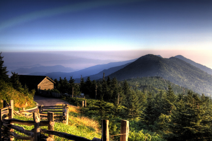 6. Let your love reach new heights atop Mt. Mitchell.