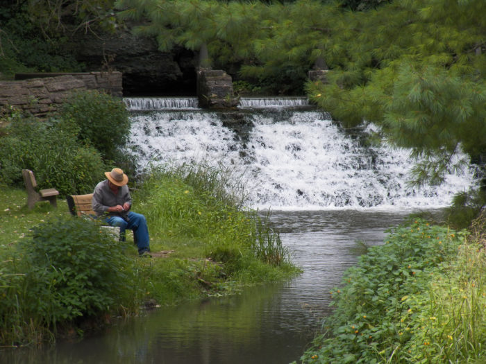 Or fishing on the Trout Run Trail at Siewers Spring.