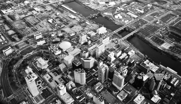 4. This black and white of downtown is epic! So beautiful.