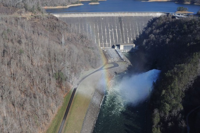 5. Fontana Dam is tallest dam in the eastern US at 480 feet.