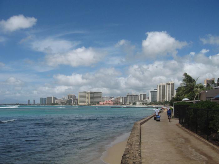 "5. Waikiki is translated to ""spouting waters"" in Hawaiian."